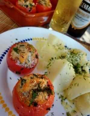 Фаршированные помидоры рыбой - фото шаг 5