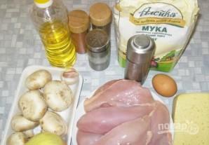Мясо с грибами и сыром - фото шаг 1