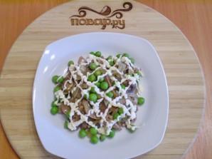 Теплый салат с куриной печенью - фото шаг 7