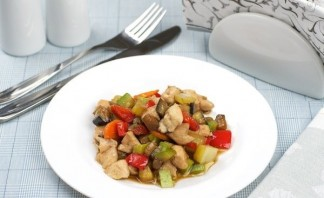Куриное филе с соусом карри и овощами - фото шаг 8