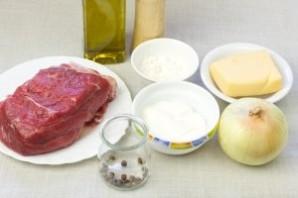 Мясо в сырном соусе - фото шаг 1