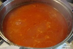 Томатный суп с перловкой - фото шаг 7