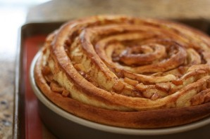 Сладкий пирог из дрожжевого теста - фото шаг 13
