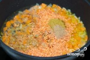 Каша из красной чечевицы с карри - фото шаг 4