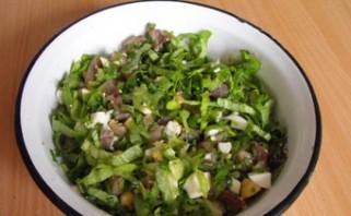 Простой салат с сыром - фото шаг 4
