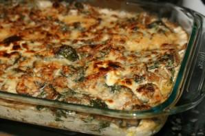 Запеканка с курицей, рисом и грибами - фото шаг 4