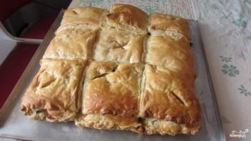 Слоеный пирог со шпинатом - фото шаг 7