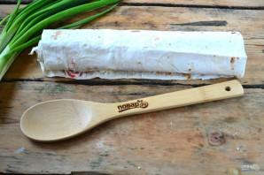 Закуска из лаваша с крабовыми палочками - фото шаг 5