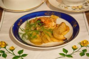 Курица с фруктами в духовке - фото шаг 5