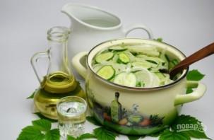 Салат из огурцов и лука на зиму - фото шаг 7