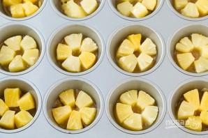 Нежные ананасовые кексы - фото шаг 2