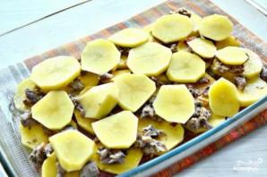 Запеканка картофельная с консервами - фото шаг 3