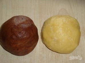 Шоколадные рогалики с кокосовой начинкой - фото шаг 1