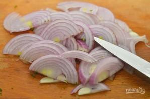 Салат из баклажанов с зеленью - фото шаг 5