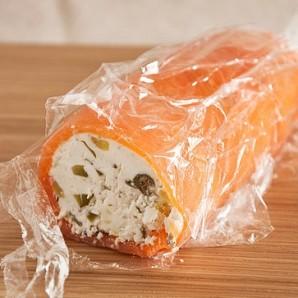 Террин из козьего сыра и копченой семги - фото шаг 1