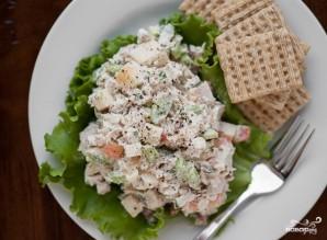 Диетический салат с индейкой - фото шаг 2