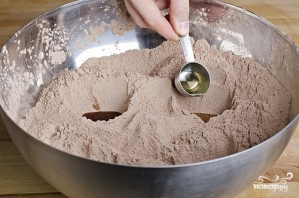 Шоколадный кекс без яиц - фото шаг 4