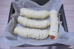 Сосиски в слоеном дрожжевом тесте - фото шаг 3