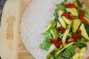Овощная кесадилья с красной фасолью - фото шаг 5