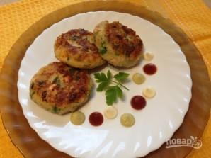 Биточки из картофеля, лосося и зеленого горошка - фото шаг 11