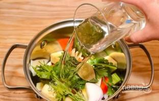 Суп на овощном бульоне - фото шаг 2