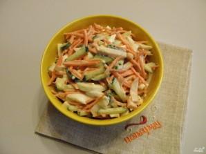 Салат с копченой курицей и корейской морковью - фото шаг 6