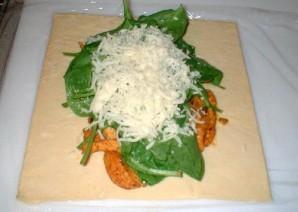 Сэндвич с цыпленком, шпинатом и сыром - фото шаг 5