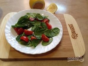 Теплый салат со шпинатом - фото шаг 6