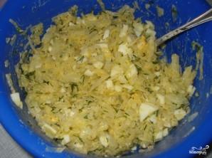 Пирог на ряженке с капустой - фото шаг 2