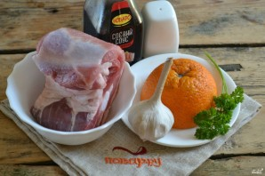 Мясо под сладким соусом - фото шаг 1