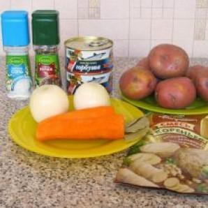 Суп с консервированной рыбой - фото шаг 1