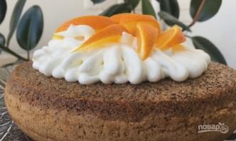 Шоколадный пирог с апельсинами - фото шаг 8