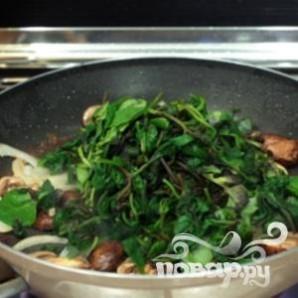 Жареные грибы со шпинатом - фото шаг 2