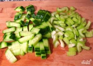 Салат из индейки с яблоками - фото шаг 3
