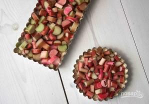 Тертый пирог с ревенем - фото шаг 3