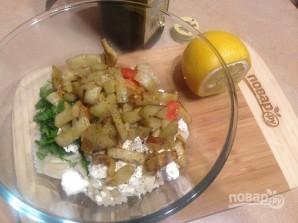 Салат с пастой, баклажанами и брынзой - фото шаг 9