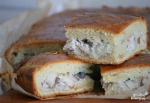 Пирог со скумбрией - фото шаг 9