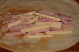Блинчики с ветчиной и сыром - фото шаг 4