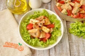 Теплый салат с жареным сыром - фото шаг 6
