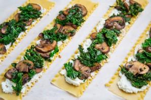 Рулетики с грибами и сыром - фото шаг 3