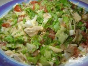 Простой салат из курицы и сыра - фото шаг 5