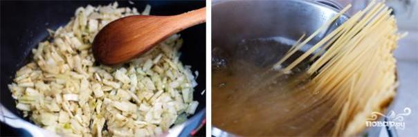 Спагетти с кальмарами - фото шаг 3
