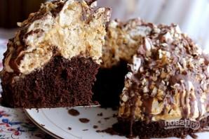 Бисквитный торт с безе и орехами - фото шаг 16