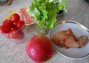 Салат с копченым мясом - фото шаг 1