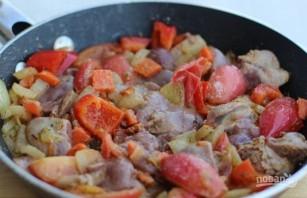 Куриная печень с овощами - фото шаг 6