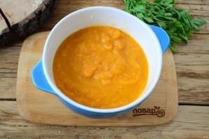 Тыквенный крем-суп с крутонами и голубым сыром - фото шаг 5