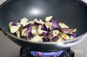 Тушеные баклажаны с мясом - фото шаг 3