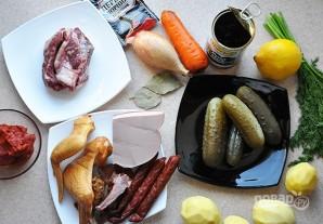 Суп-солянка мясная - фото шаг 1