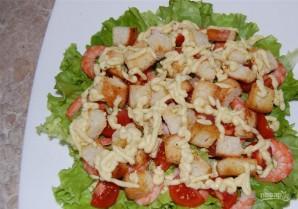 Салат с креветками и помидором - фото шаг 13