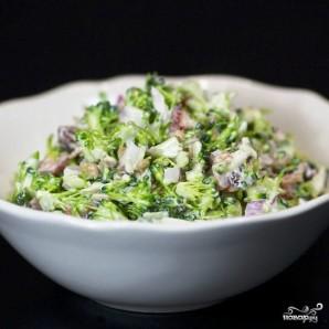 Салат из брокколи с изюмом и семечками - фото шаг 14